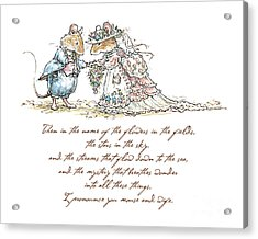 I Pronounce You Mouse And Wife Acrylic Print by Brambly Hedge