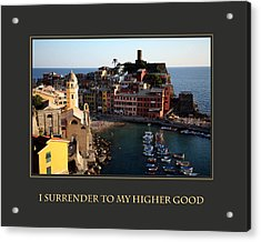 I Surrender To My Higher Good Acrylic Print by Donna Corless