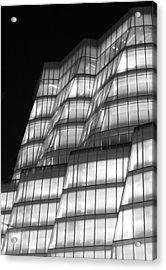 Iac Building Night Time  Acrylic Print by Christopher Kirby