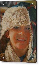 Ian Portrait Acrylic Print by Leonor Thornton