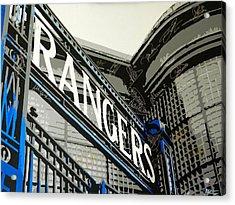 Ibrox Gates Acrylic Print by Scott Strachan