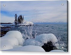 Ice And Blues Acrylic Print by Sandra Updyke