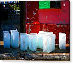 Ice Blocks By Michael Fitzpatrick Acrylic Print by Mexicolors Art Photography