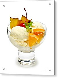 Ice Cream With Fruit Acrylic Print by Elena Elisseeva