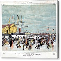 Ice Skaters, C1856 Acrylic Print by Granger