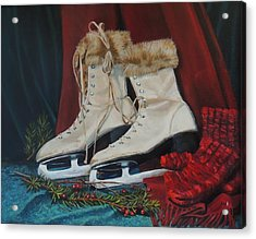 Ice Skates And Mittens Acrylic Print by Patty Kay Hall