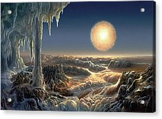 Ice World Acrylic Print by Don Dixon