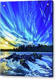 Icebound 3 Acrylic Print by Bill Caldwell -        ABeautifulSky Photography