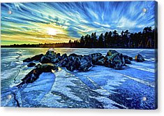 Icebound 5 Acrylic Print by ABeautifulSky Photography