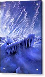 Iced Blue Acrylic Print by Phil Koch