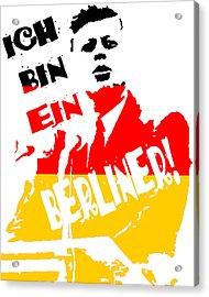 Ich Bin Ein Berliner Acrylic Print by Jera Sky