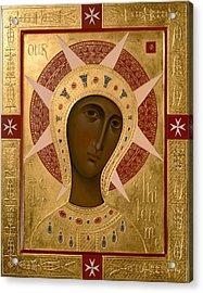 Icon Of Our Lady Of Filermo. Acrylic Print by  Olga Shalamova
