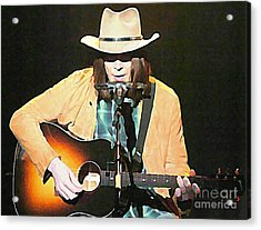 Iconic Neil Young Acrylic Print by John Malone