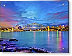 Icons Of Sydney Harbour Acrylic Print by Az Jackson
