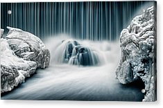 Icy Falls Acrylic Print by Keijo Savolainen