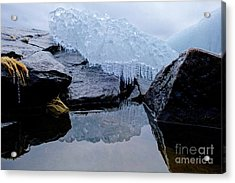 Icy Reflections Acrylic Print by Sandra Updyke