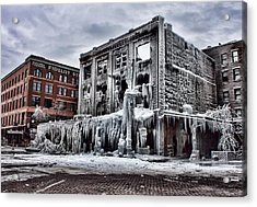 Icy Remains - After The Fire Acrylic Print by Jeff Swanson