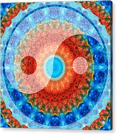 Ideal Balance Yin And Yang By Sharon Cummings Acrylic Print by Sharon Cummings