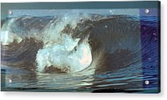 Ideal Surf Waves Photography And Digital Transformation Acrylic Print by Navin Joshi