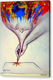 Ideas In Images 2 Acrylic Print by Paulo Zerbato