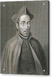 Ignatius Of Loyola Acrylic Print by W Holl