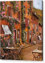 Il Bar Sulla Discesa Acrylic Print by Guido Borelli