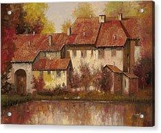 Il Borgo Rosso Acrylic Print by Guido Borelli