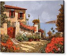Il Giardino Rosso Acrylic Print by Guido Borelli