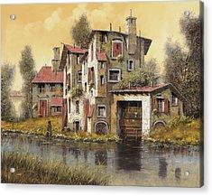Il Mulino Giallo Acrylic Print by Guido Borelli