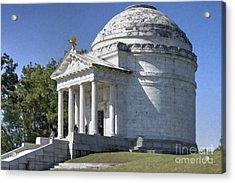 Illinois State Memorial Acrylic Print by Liane Wright