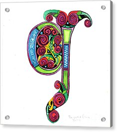Illuminated Letter G Acrylic Print by Genevieve Esson