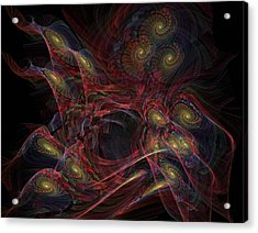 Illusion And Chance - Fractal Art Acrylic Print by NirvanaBlues