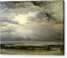 Immensity Acrylic Print by Gustave Courbet