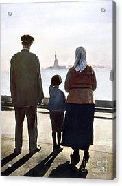 Immigrants: Ellis Island Acrylic Print by Granger