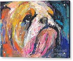 Impressionistic Bulldog Painting Acrylic Print by Svetlana Novikova