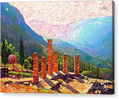 In Awe Of Delphi Acrylic Print by Jane Small