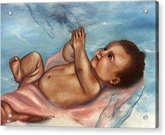 In Gods Hands Acrylic Print by Joni McPherson