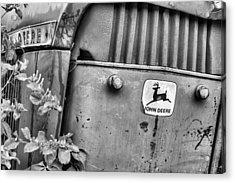 In John Deere Greene Bw Acrylic Print by JC Findley