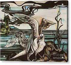 In Memory Of Deceased Friend. Acrylic Print by Anna  Duyunova