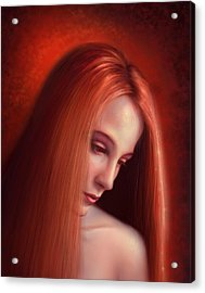 In Mourning Acrylic Print by Philip Straub