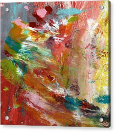 In My Dreams- Abstract Art By Linda Woods Acrylic Print by Linda Woods