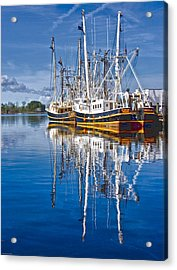 In Port Acrylic Print by Ches Black