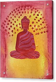 In Search Of Life - Lord Buddha Acrylic Print by Nayna Tuli Fineart