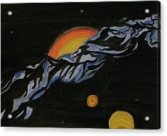 In Space Acrylic Print by Carolyn Cable