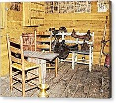 In The Barn Acrylic Print by Susan Leggett