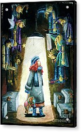 In The Closet Of The Puppeteer Acrylic Print by Yagmur Telorman
