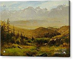In The Foothills Of The Rockies Acrylic Print by Albert Bierstadt