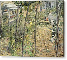 In The Garden Acrylic Print by Charles Angrand