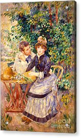 In The Garden Acrylic Print by Pierre Auguste Renoir