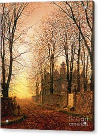 In The Golden Olden Time Acrylic Print by John Atkinson Grimshaw